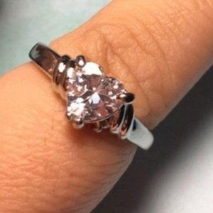 CZ Promise Ring Love Hear Size 8